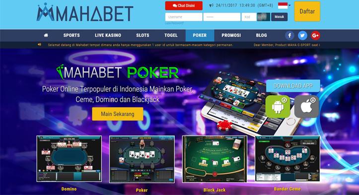 Mahabet Poker Situs Judi Online Terbaik